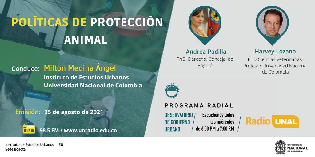 Los animales en el POT de Bogotá