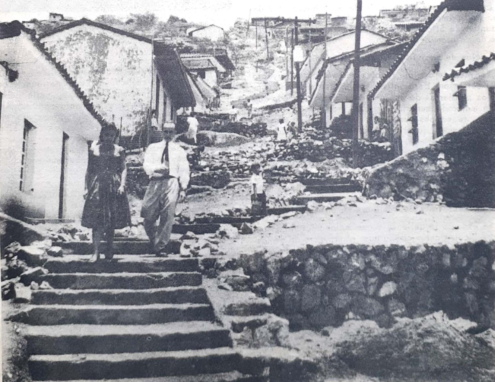 Barrio Siloé, Cali. Resultado del trabajo de campo del CINVA 1957-1958. Archivo CINVA, UNAL.