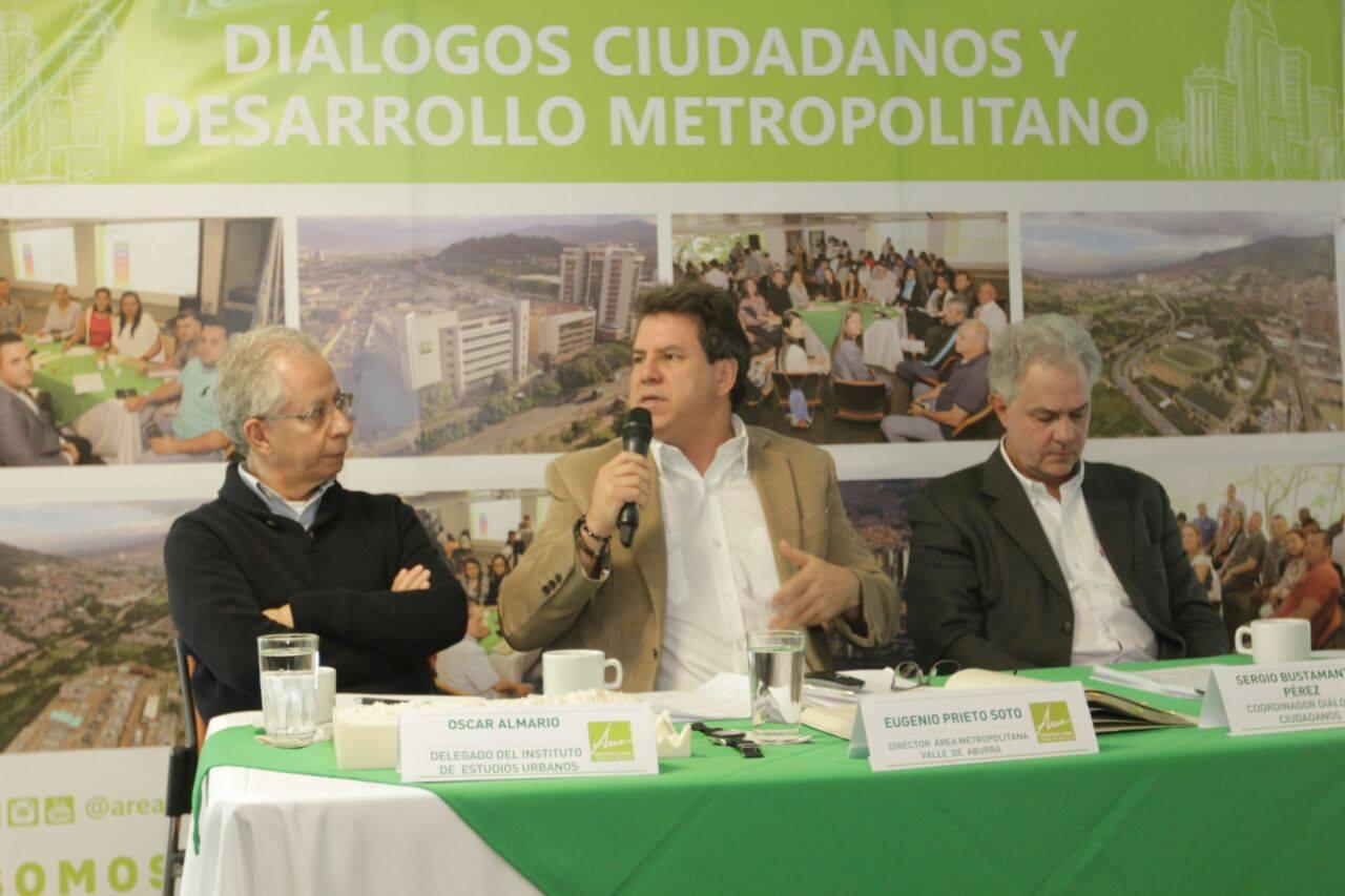 Óscar Almario, Eugenio Prieto y Sergio Bustamante. Foto: Fredy Amariles, oficina asesora de comunicaciones AMVA