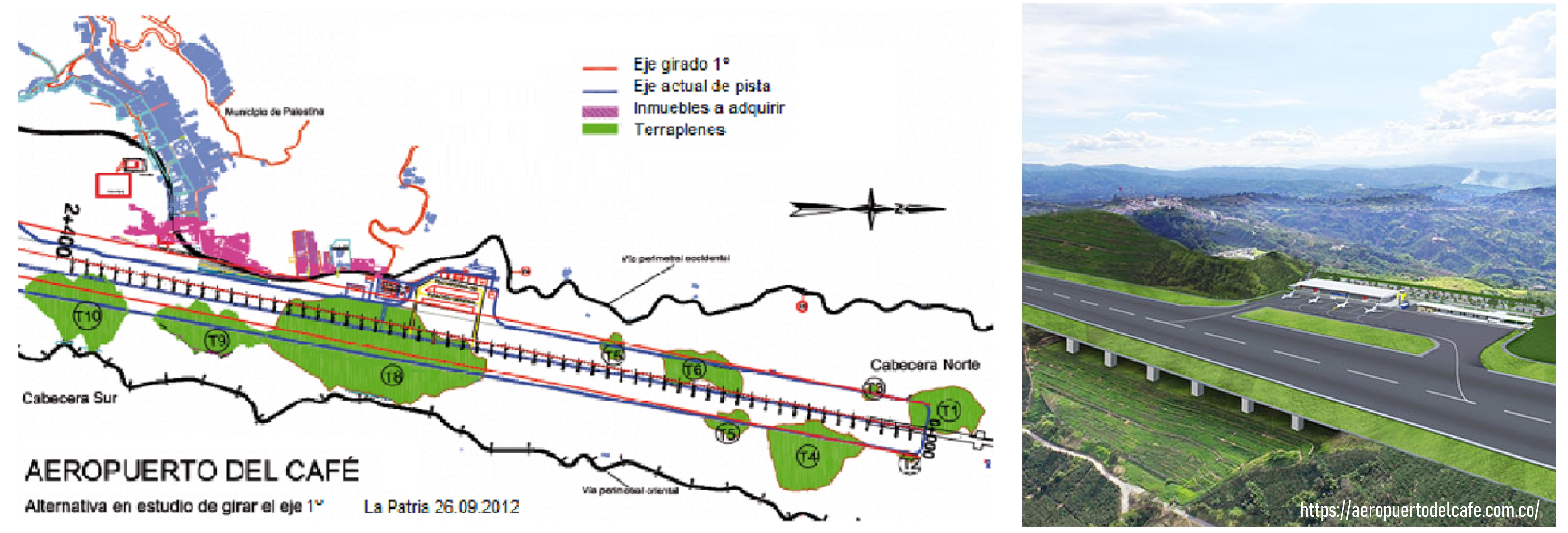Aerocafé proyecto constructivo y panorámica de la obra concluida. La Patria y Web Aerocafé