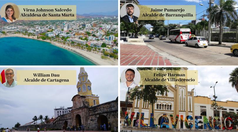 Estos fueron los 4 alcaldes del país con mejor imagen en 2020 / foto IEU