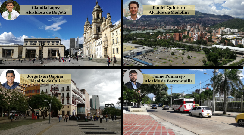 Bogotá, Medellín, Cali y Barranquilla son las 4 ciudades más pobladas de Colombia / Foto IEU