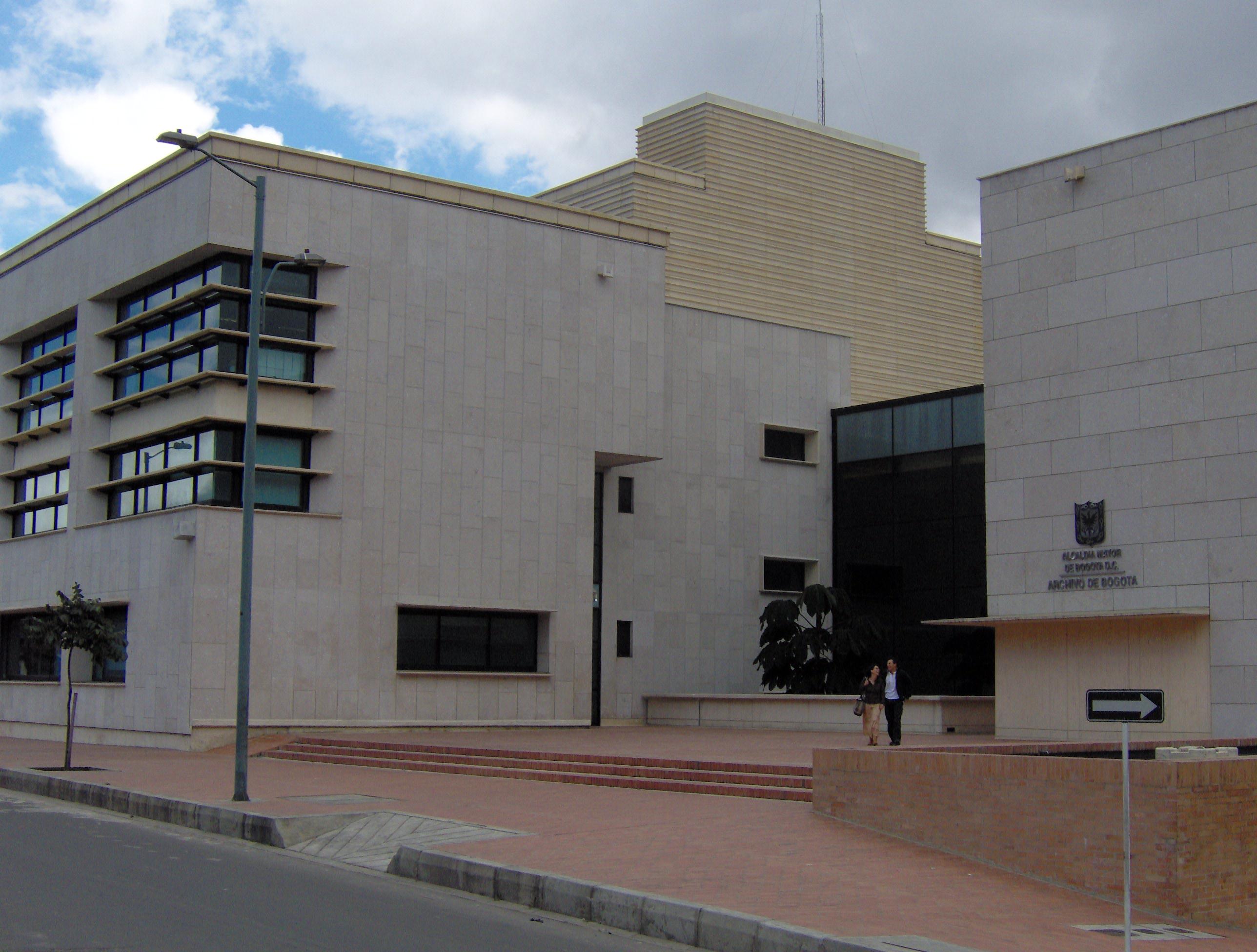 Pabón, C. (2006). Archivo Distrital de Bogotá. Recuperado de https://commons.wikimedia.org/wiki/File:Archivo_de_Bogot%C3%A1_D.C..jpg