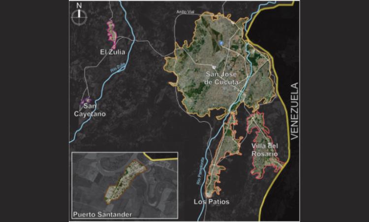 Área Metropolitana de Cúcuta / Fuente: Elaboración autora