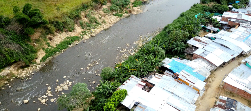 Asentamientos humanos ubicados en zona de riesgo en Bucaramanga / foto Alcaldía de Bucaramanga