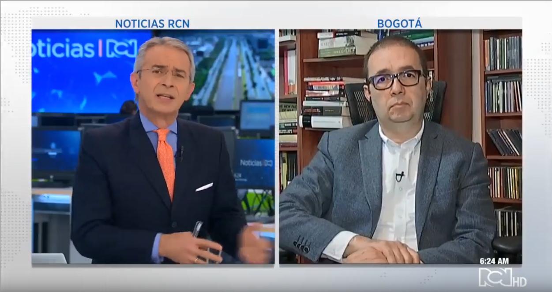 Profesor Carlos Patiño en Noticias RCN