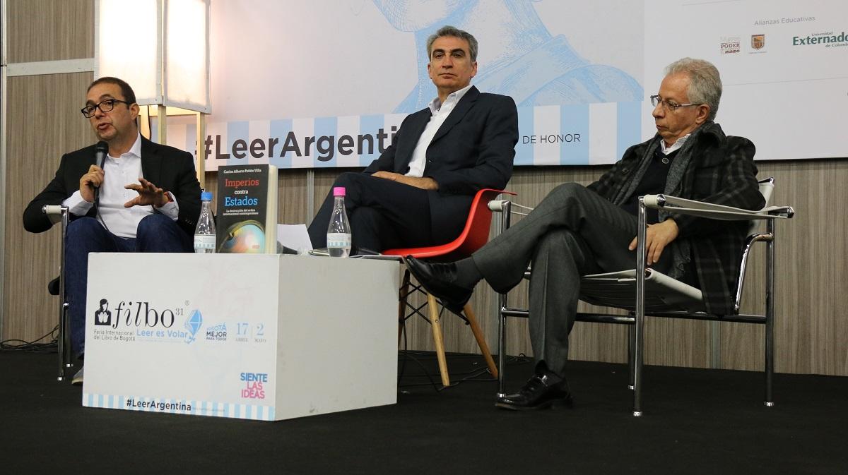Profesores Carlos Patiño Villa, Isidro Sepúlveda y Óscar Almario