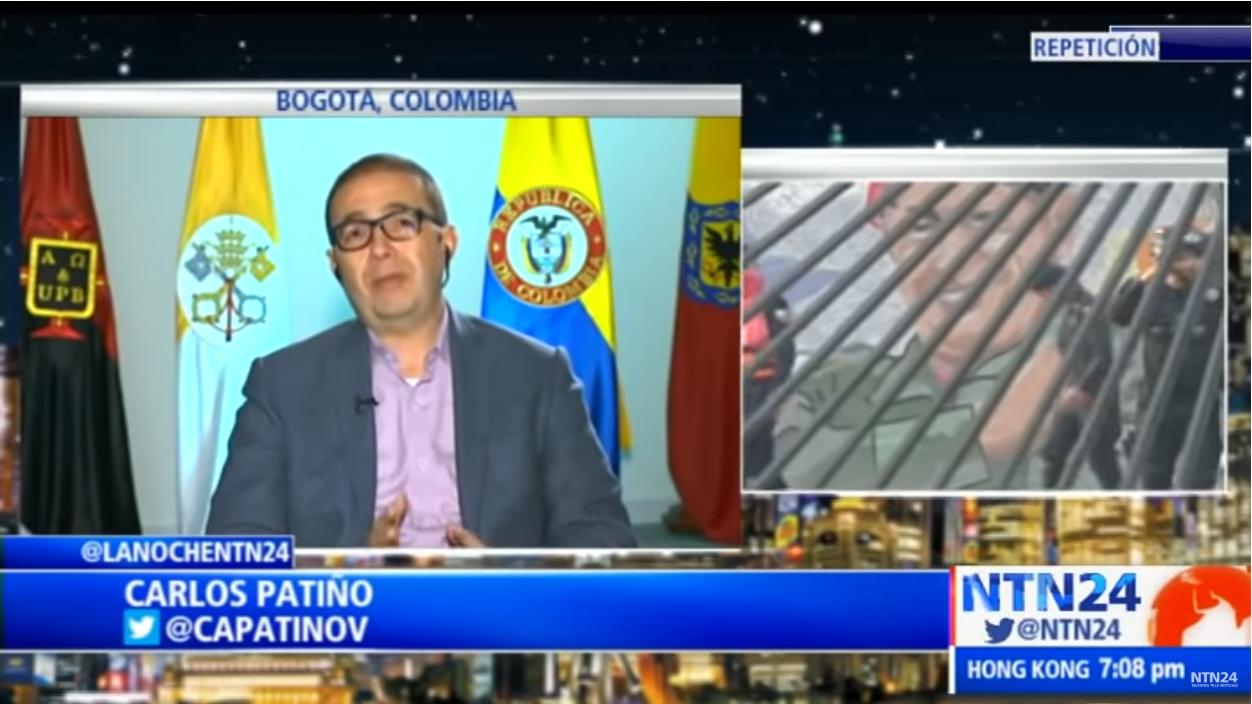 Profesor Carlos Patiño en La Noche