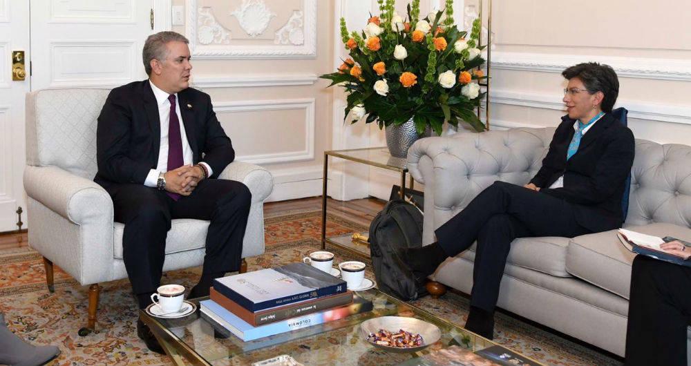 Presidente Iván Duque y alcaldesa de Bogotá, Claudia López / Foto tomada de Semana.com