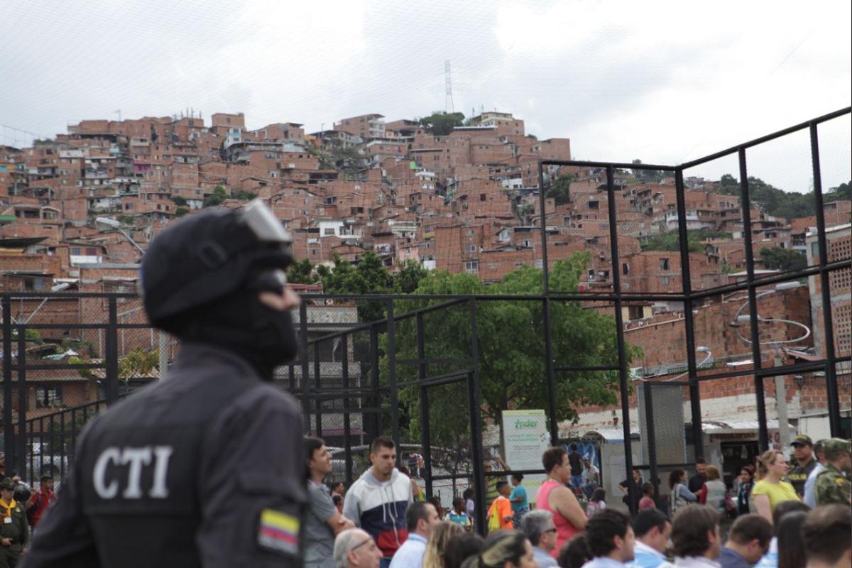 Comuna 13 de Medellín / Foto tomada de Twitter @santiagotavera