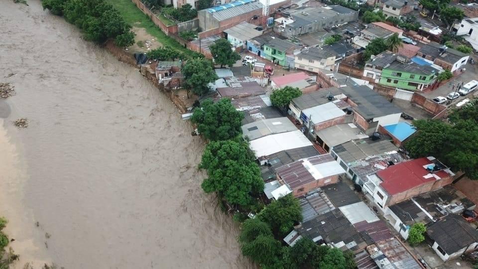 Barrio San Rafael de Cúcuta afectado afectado por creciente del río Pamplonita / Foto Secretaría Municipal para la Gestión del Riesgo de Desastres
