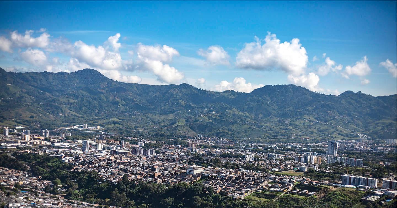 Vista panorámica del municipio de Dosquebradas / Foto del Área Metropolitana de Centro Occidente