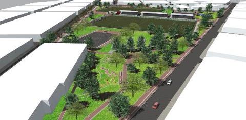 Proyecto del Parque Zonal Olaya Herrera en la localidad de Rafael Uribe Uribe, financiado con recursos de Regalías / Foto Alcaldía de Bogotá