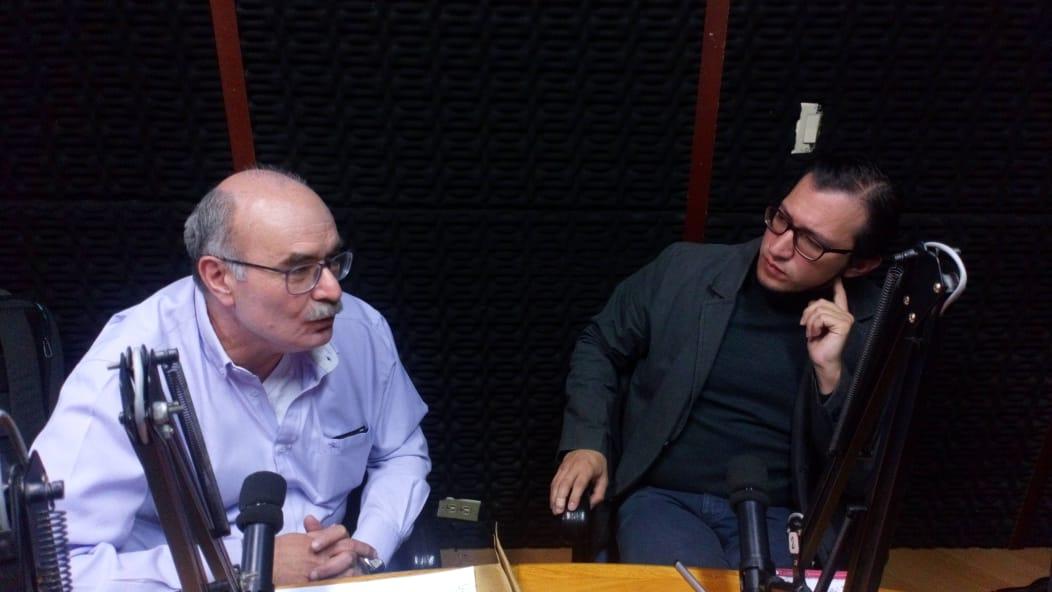 Stefano Farné y Roberto Sánchez, en Observatorio de Gobierno Urbano / Foto IEU