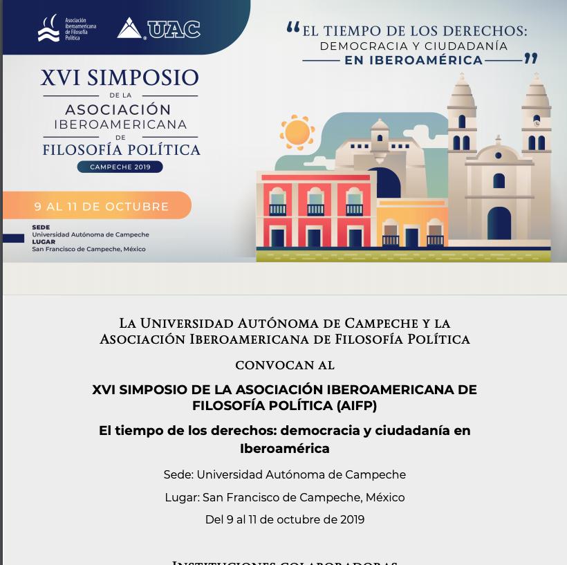 XVI Simposio de la Asociación Iberoamericana de Filosofía Política