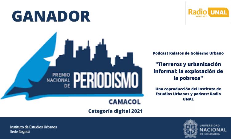 Episodio de Relatos de Gobierno Urbano gana Premio Nacional de Periodismo Camacol, Categoría Digital 2021