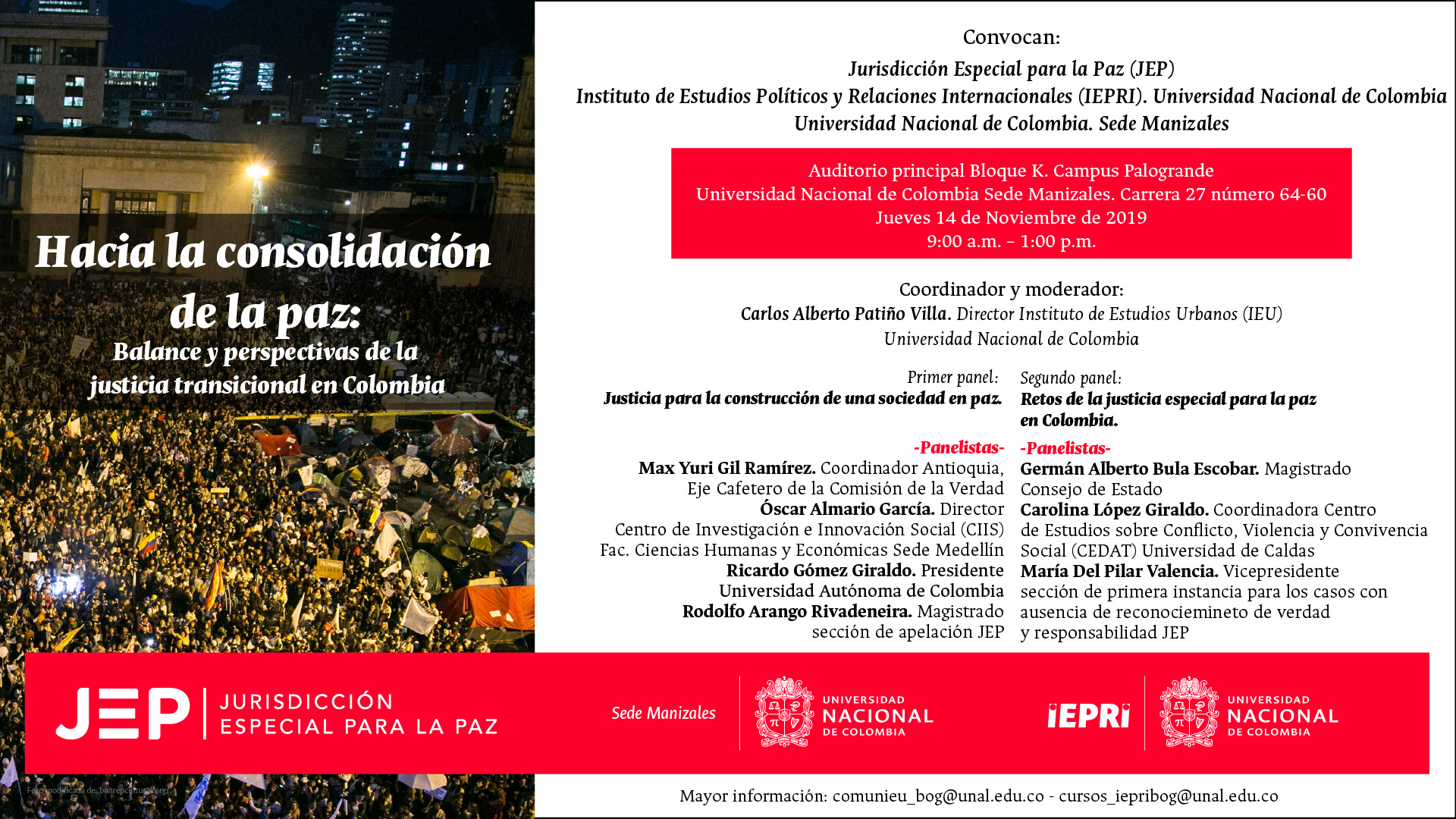 Seminario itinerante Hacia la consolidación de la paz