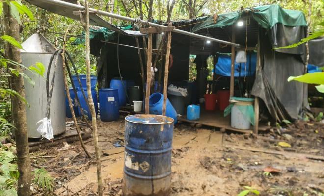 Laboratorio de cocaína en Buenaventura / Foto Policía Nacional