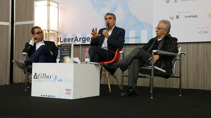 Lanzamiento del libro Imperios Contra Estados - Carlos Patiño; Isidro Sepúlveda y Óscar Almario / Foto IEU