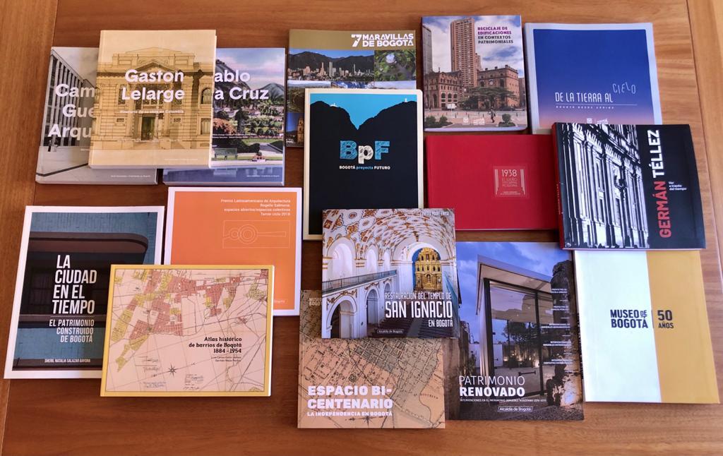 Publicaciones premiadas / Cortesía Mauricio Uribe, Director del Instituto Distrital de Patrimonio Cultural