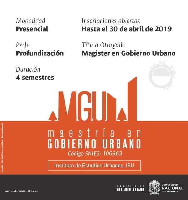 Maestría Gobierno Urbano