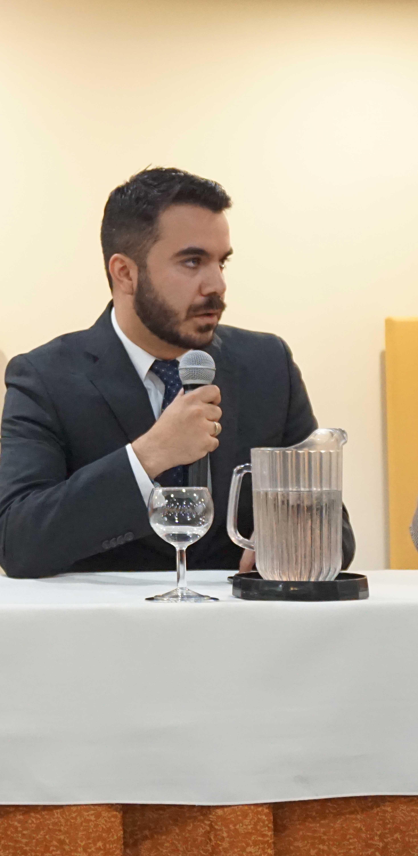 Profesor Miguel Silva, ponente en el Panel 1. Sociedad y vida urbana.
