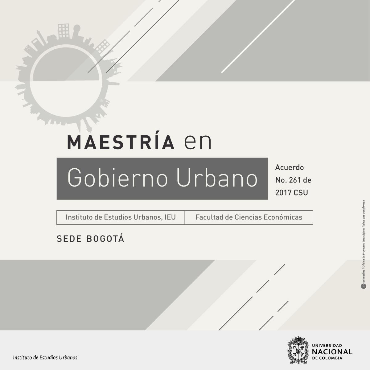 Maestría en Gobierno Urbano