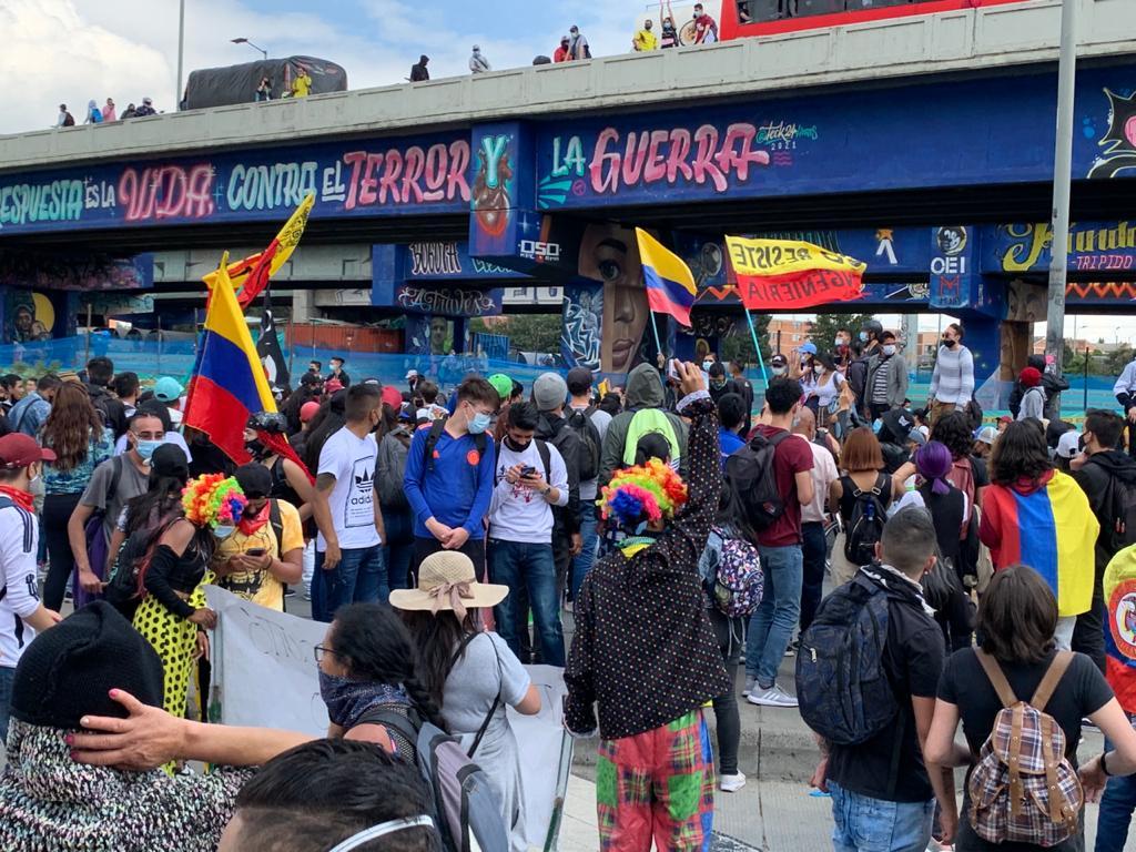 Manifestaciones sociales en Bogotá / Foto cortesía Juan Camilo Cortés