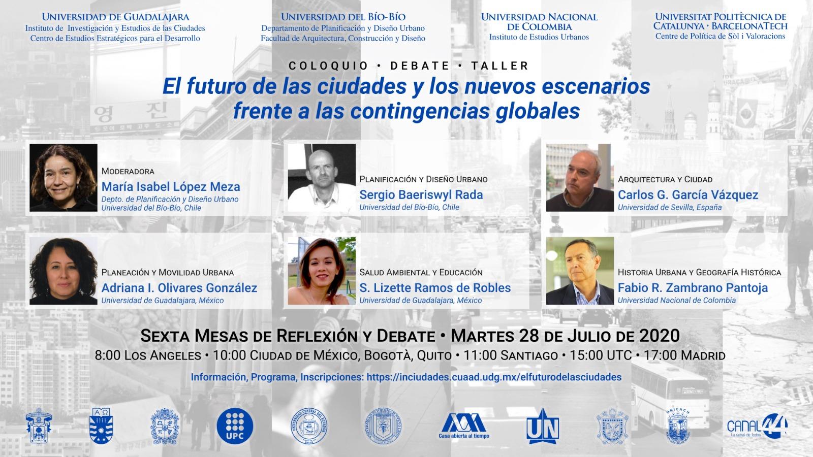 Coloquio El futuro de las ciudades y los nuevos escenarios a las contingencias globales