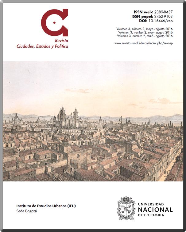 Disponible el último número de la Revista Ciudades, Estados y Política del IEU (Vol. 3, núm. 2, 2016)