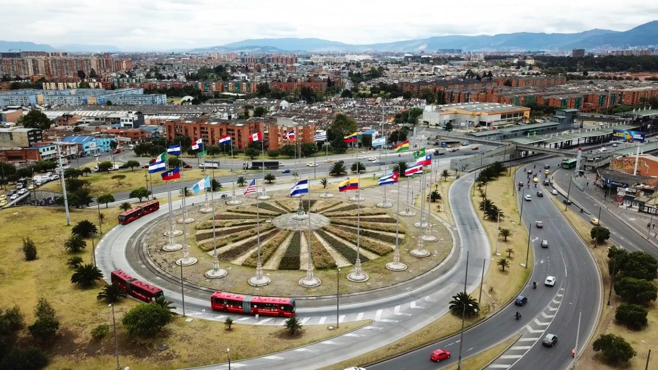 Monumento a las Banderas / Foto Alcaldía de Bogotá