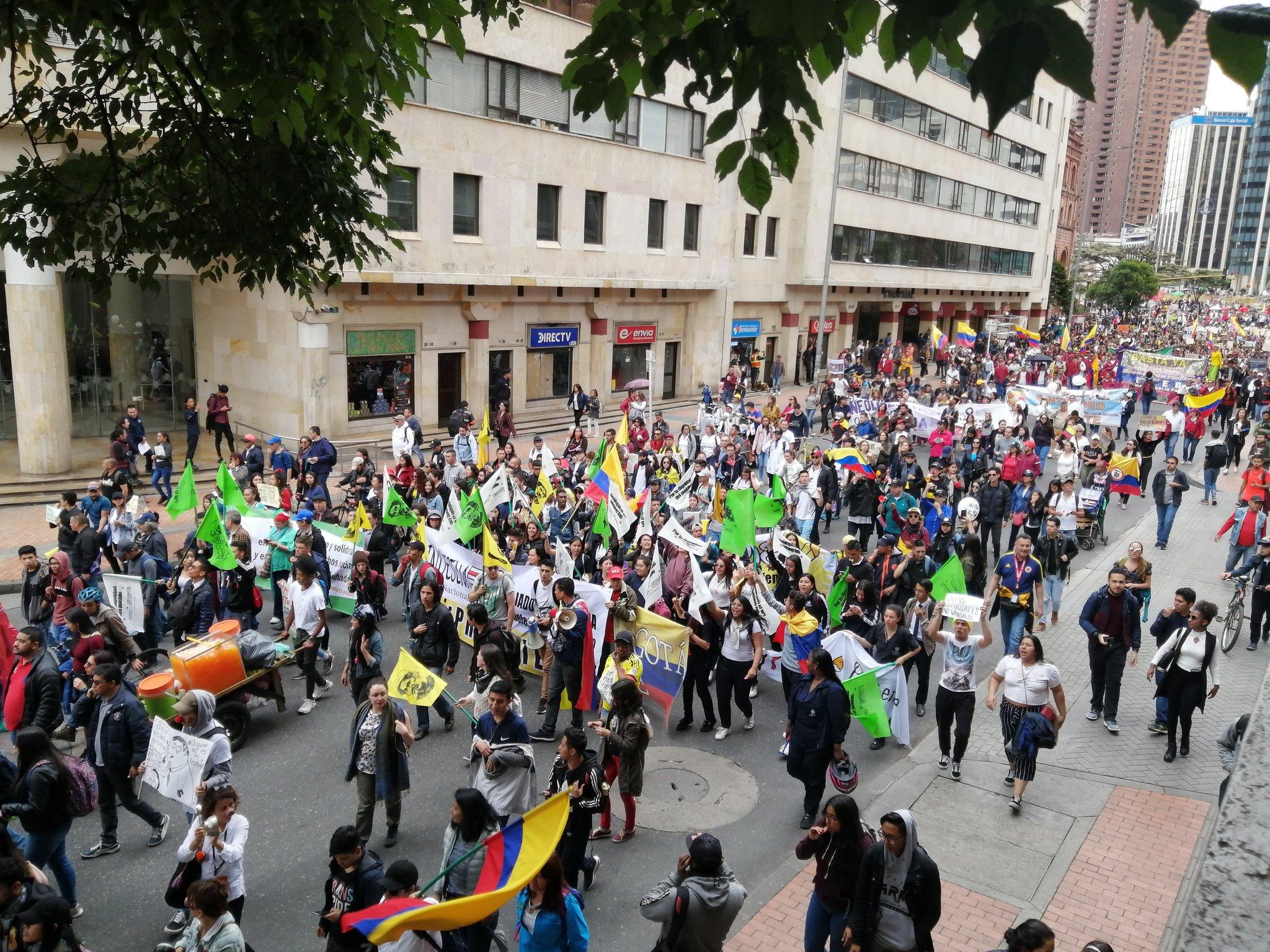 Movilización del 21N Paro Nacional / Foto de @cutcolombia