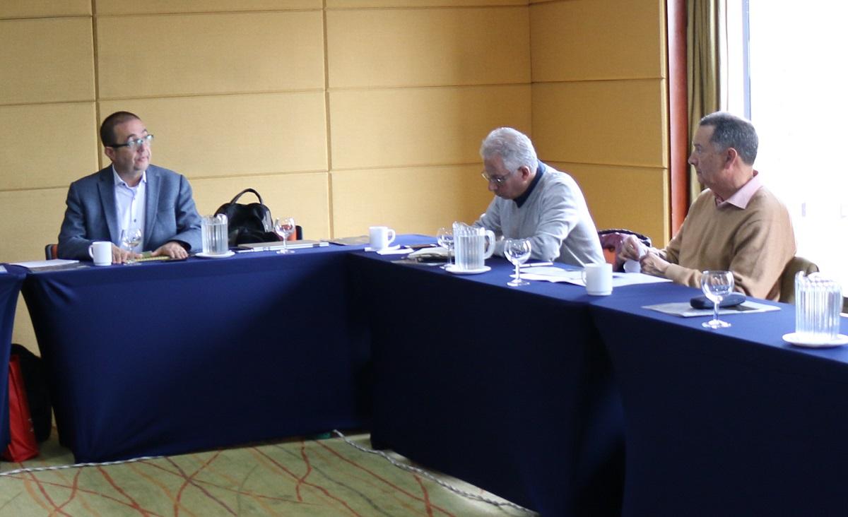 Profesores Carlos Patiño, Óscar Almario y Fabio Zambrano / Foto IEU