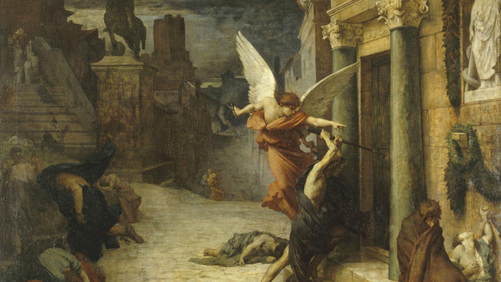 'Peste en Roma', un lienzo de Jules Elie Delaunay. Museo de Orsay