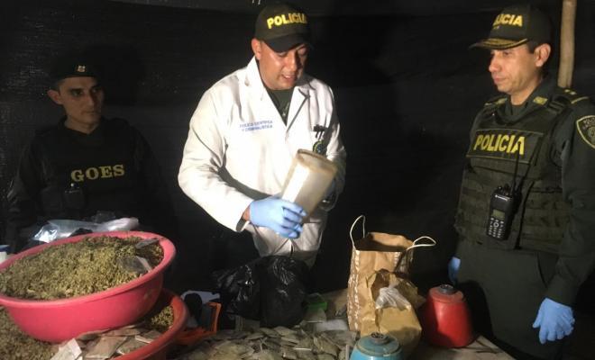 Desmantelamiento de laboratorio de estupefacientes en Bucaramanga / Foto Policía Metropolitana de Bucaramanga