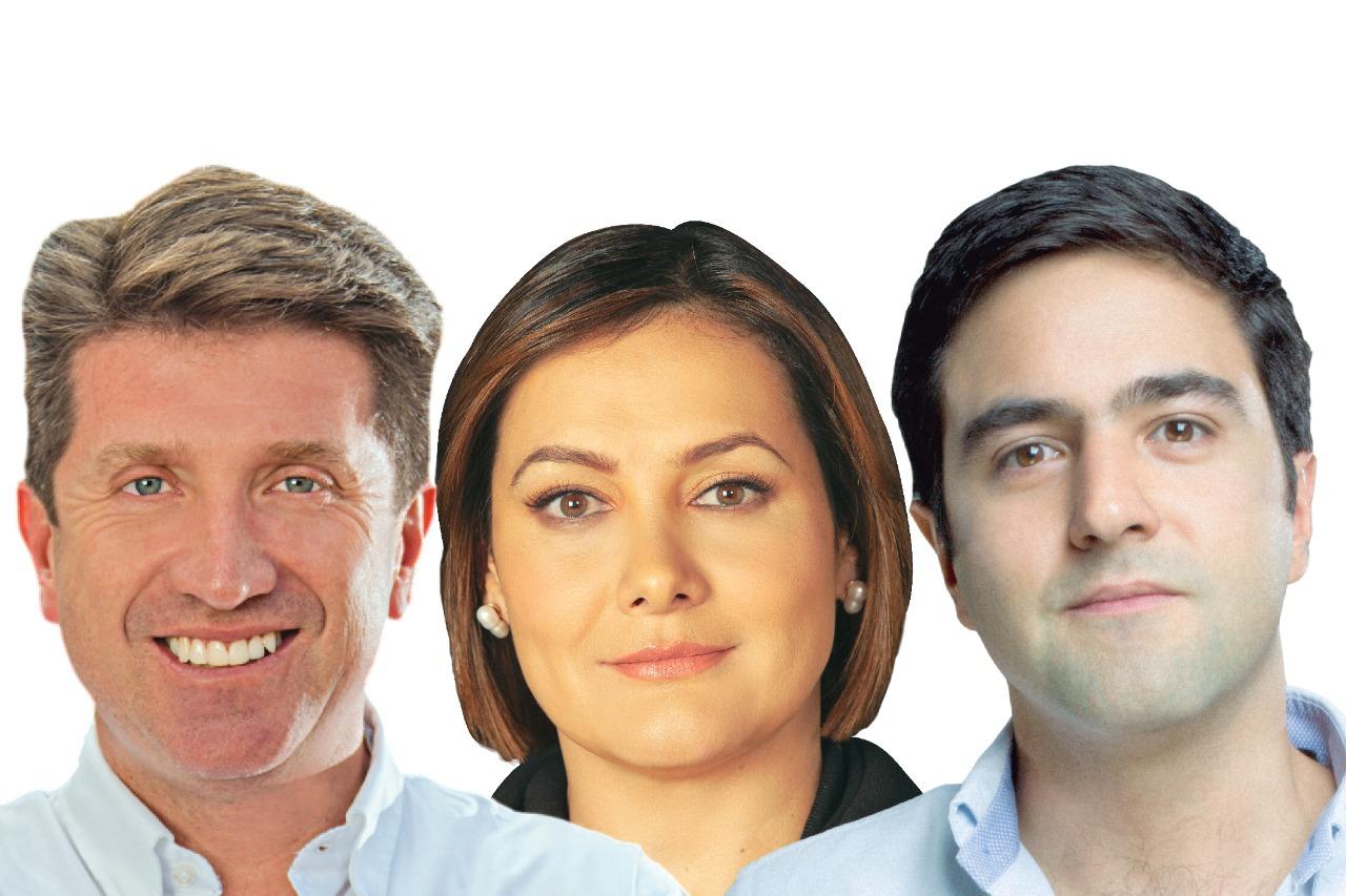 Precandidatos Diego Molano, Ángela Garzón y Samuel Hoyos