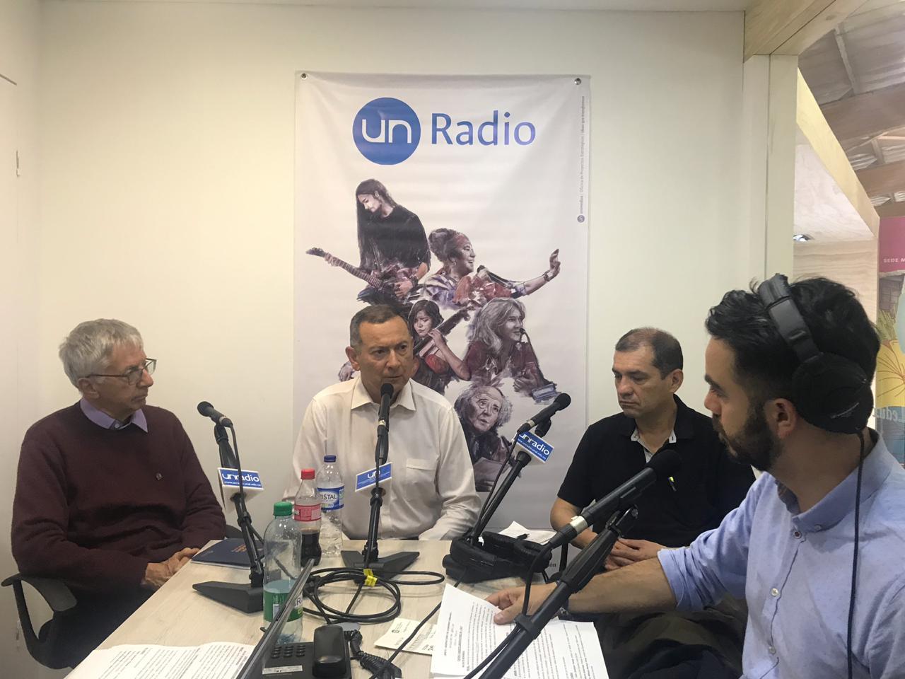 Profesores Alberto Saldarriaga, Fabio Zambrano, John Williams Montoya y Miguel Silva / Foto IEU