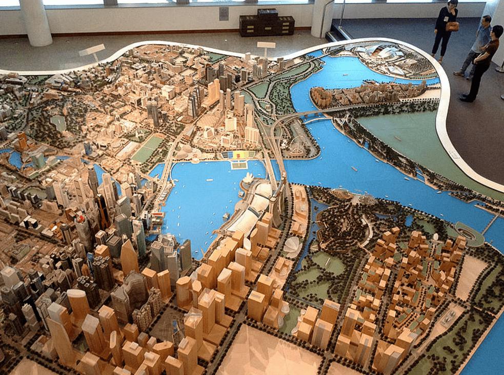 Proyección de crecimiento urbano para Singapur en 2030. Foto: UN Periódico