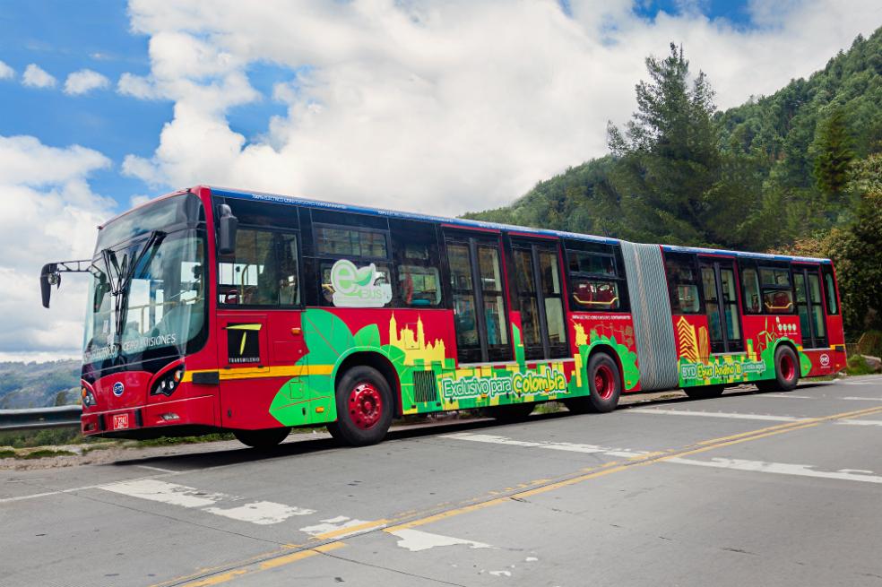 Este fue el primer bus eléctrico de Transmilenio que circuló en Bogotá en una prueba piloto en 2017 / Foto Empresa BYD