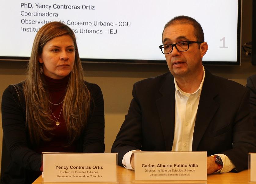 Profesores Yency Contreras y Carlos Patiño del IEU