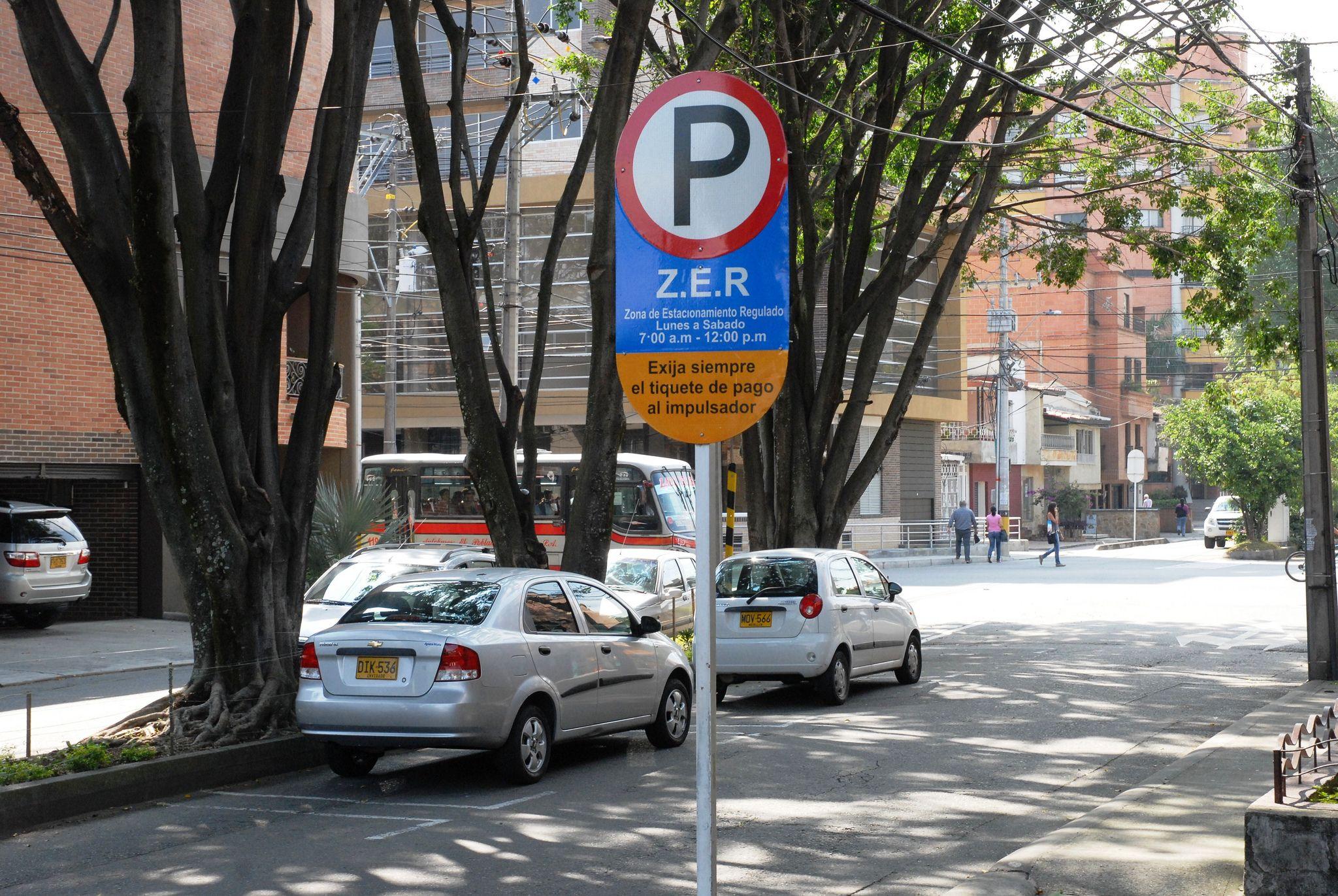 Zonas de Estacionamiento Regulado en Medellín