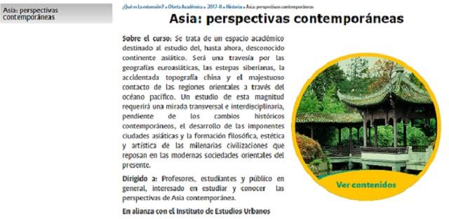 """IEU y Facultad de Ciencias Humanas presentan el curso de extensión """"Asia: perspectivas contemporáneas"""""""