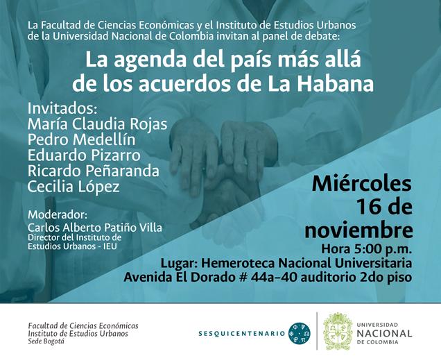 La agenda del país más allá de los acuerdos de La Habana