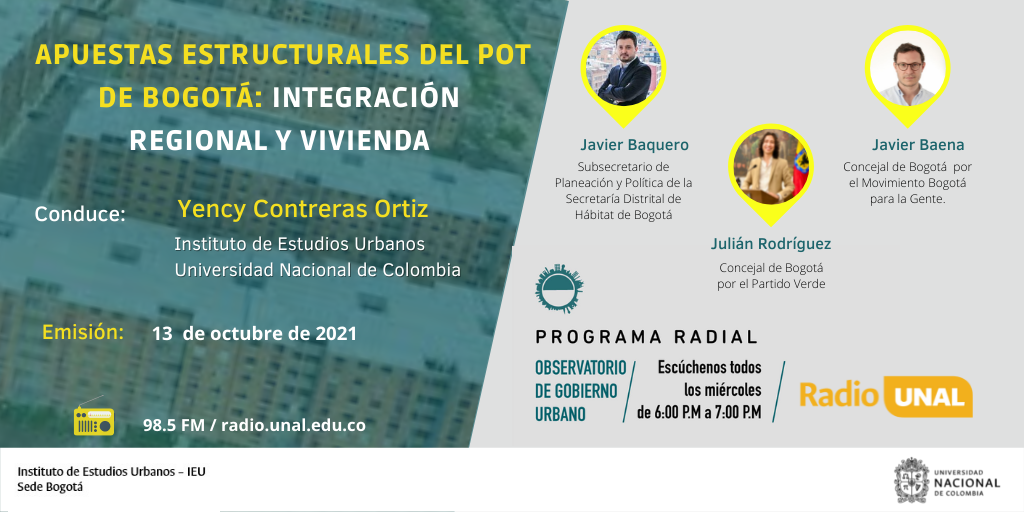 Apuestas estructurales del POT de Bogotá: integración regional y vivienda