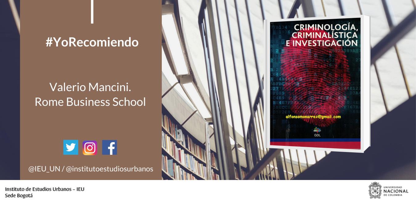"#YoRecomiendo El Manual ""Criminologia, Criminalistica E Investigacion"""